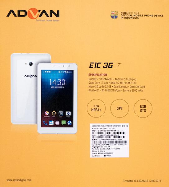 Advan E1c Pic 2